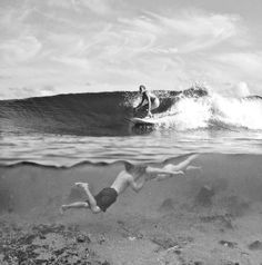 surf and kiss. please can we do this every day on our Hawaii honeymoon?