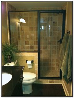 Small Bathrooms Remodel 20 Beautiful Small Bathroom Ideas  50Th Shower Rod And Glass Doors