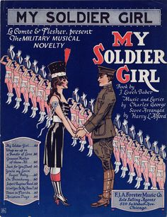 """""""My Soldier Girl.""""  From Brown University's collection of World War I sheet music."""