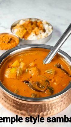 Veg Recipes, Spicy Recipes, Curry Recipes, Cooking Recipes, Indian Vegetable Recipes, Vegetable Soups, Sambhar Recipe, Chaat Recipe, Indian Dessert Recipes