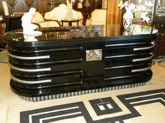 Spectacular Hollywood Producer Art Deco Desk 1930's Harry Cohn