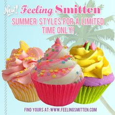 Summer Cupcake Bath Bombs from the first summer I worked at feeling smitten!love these scents #raspberrylemonade #blackberryamber #cottoncandy
