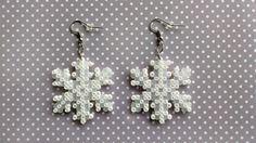 Winter Snowflake made from Perler beads/Hama beads/mini Hama beads by…