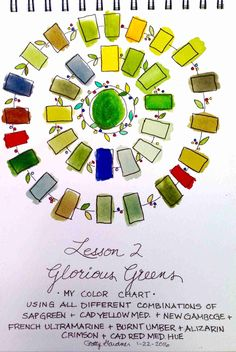 Student work. fabulous color chart! (from my Sketching and Watercolor: Journal Style online class.)
