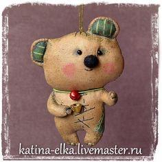 Мишки - авторская ручная работа,авторские украшения,авторские елочные игрушки