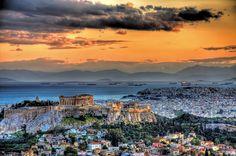 Greece, Acropolis Sunset