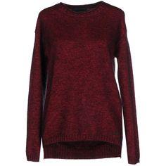 Tru Trussardi Jumper ($220) ❤ liked on Polyvore featuring tops, sweaters, maroon, lightweight sweaters, maroon tops, jumpers sweaters, long sleeve tops and long sleeve jumper