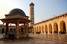 by twiga_swala on Flickr.  Great Mosque of the Umayyad in Aleppo, Syria.