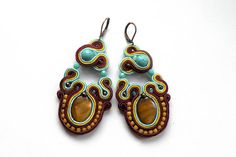 Earrings-soutache earrings-boho-soutache-ethnic-Gobi