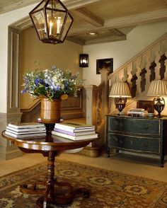 Tips for Styling Round Entry Tables Rough Luxe Lifestyle David Easton Round Entry Table, Entry Tables, Round Tables, Sofa Tables, Entrance Foyer, Entry Hallway, Entrance Halls, Entryway Decor, Design Entrée