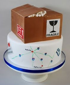 Moving Away Cake - that box is edible!! :) Lisa can you make me this for going away?? Pretty please?