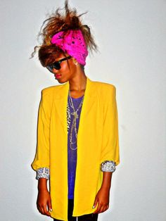 70's Classic Vintage Nordstrom Electric Yellow Open by LACEn80s, $35.00
