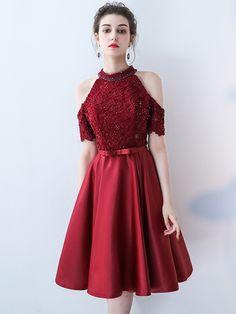 Homecoming Dresses Knee Length, School Formal Dresses, Knee Length Dresses, Princess Prom Dresses, Lovely Dresses, Lolita Fashion, I Dress, Evening Dresses, Cool Outfits