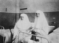 Tatiana and Olga in their nursing uniforms