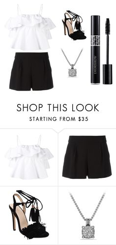 """Sans titre #5970"" by merveille67120 ❤ liked on Polyvore featuring MSGM, Boutique Moschino, David Yurman and Christian Dior"