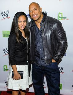 the rock & his daughter
