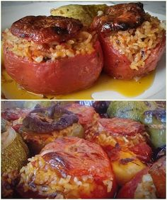 Mediterranean Recipes, Greek Recipes, Baked Potato, Food And Drink, Baking, Ethnic Recipes, Cross Stitch, Kitchens, Potato Noodles