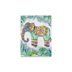 InterestPrint Elephant Green Thais Painted Ethnic Pattern...