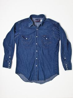 Vintage wrangler blue bell 1960 39 s denim jacket door for Mens shirts with snaps instead of buttons