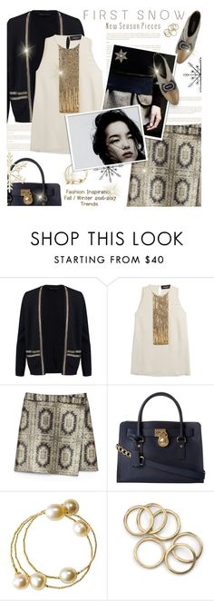 """""""First Snow"""" by kearalachelle ❤ liked on Polyvore featuring Maje, Dsquared2, Tory Burch, MICHAEL Michael Kors and Disney"""