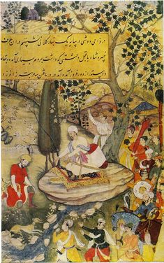 Baburnama, depicting Miniature paintings of battlefield, landscapes, birds and animals. In many of the Mughal Miniature Paintings, painted . Mughal Paintings, Indian Paintings, Indian Artwork, Painting Carpet, Happy Paintings, Painting Gallery, Magic Carpet, Pictures To Paint, Islamic Art