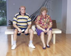 Old Couple on a Bench, 1994