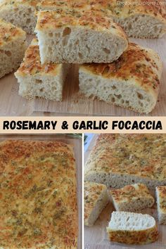 Easy recipe for Rosemary & Garlic Focaccia with step by step photos. Delicious italian bread, perfect for serving with pasta or sharing with friends! #italianbread #focaccia #thebakingexplorer #rosemarygarlicbread #breadrecipe