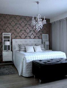 Sisustus - Makuuhuone - Maalaisromanttinen Wallpaper Bedroom, Decor, Small Bedroom Decor, Couple Bedroom, Furniture, House, Bedroom, Home Decor, Small Bedroom