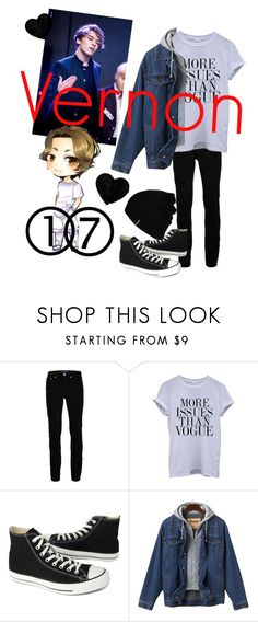 """""""Vernon"""" by ponysam ❤ liked on Polyvore featuring Topman, Converse, Hurley, men's fashion and menswear"""