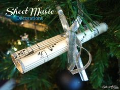 Silver Boxes: More Sheet Music Decorations