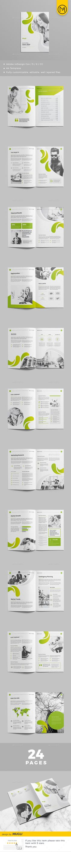 Design Brochure Template InDesign INDD - 24 Pages