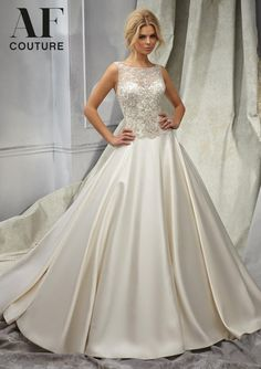 b8b73a9566d1 1307 Wedding Gowns   Dresses 1307 Intricately Beaded Embroidery on a  Duchess Satin Bridal Gown Abiti
