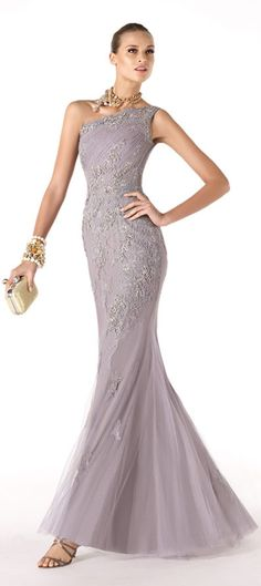 Pronovias 2014 one shoulder dresses for my maid of honor and matron of honors