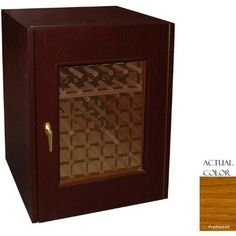Vinotemp Vino-114g-fw 80 Bottle Wine Cellar - Glass Doors / Fruitwood Cabinet by Vinotemp. $2499.00. Vinotemp VINO-114G-FW 80 Bottle Wine Cellar - Glass Doors / FruitWood Cabinet. VINO-114G-FW. Wine Cellars. Simple and classic, this Vinotemp Wine Cellar features one thermal, double-paned glass door and a high quality white oak exterior. The wine mate self contained cooling system ensures proper circulation while your wine is stored safely away. Digital temperature control makes t...