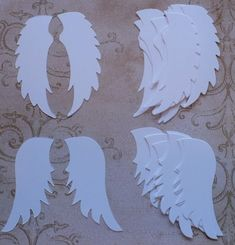 Sizzix Angel Wings Wing Shapes from Cardstock Paper Die Cuts for Card Making crafts Baby Angel DIY projects embellishments Christmas Tags Sizzix Angel Wings Die Cuts Cardstock for crafts/ cards/ White for Angel Cards DIY projects etc. Christmas Wood, Christmas Angels, Christmas Crafts, Christmas Decorations, Christmas Stuff, Birthday Decorations, Diy Angel Wings, Diy Wings, Angel Theme