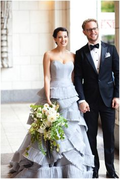Fashion Friday: The Most Gorgeous (Gray!!!) Wedding Dress Ever