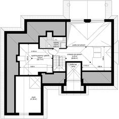 Projekt domu Willa parkowa B 145,29 m2 - koszt budowy - EXTRADOM Planer, House Plans, Villa, Floor Plans, Exterior, How To Plan, Home, Log Projects, Events