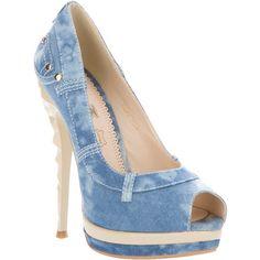 IT3 denim shoe ($88) found on Polyvore