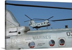 US Marine Corps CH46 Sea Knight helicopters . . . . One of my favorite helicopters :-) I enjoy them the most when I spot them in flight 2, 3, or 4 in a row .