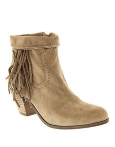 Shoes   Ankle Booties    Louie Fringe Suede Bootie   Hudson's Bay