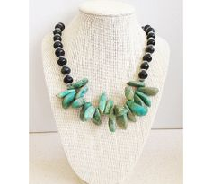 Turquoise Nuggets Jasper Necklace Earrings by lindasnest on Etsy, $45.00