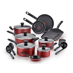 Red Nonstick Pots and Pans Dishwasher Safe #edNonstickPots