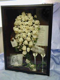 wedding shadow box- ALLISON DONT LOOK. :)