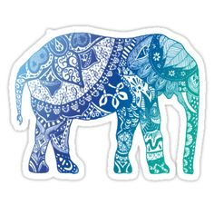 """Blue Elephant"" Stickers by adjsr 