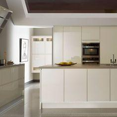 Kitchen-compare.com - John Lewis Skyline Ivory Handleless.: