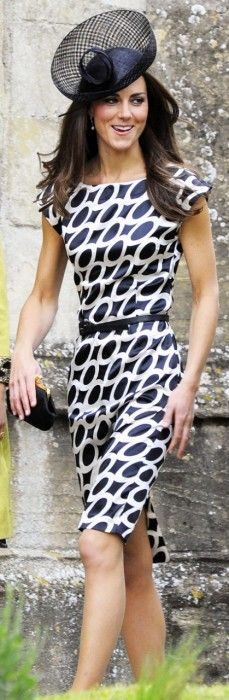 Love a great black and white print dress