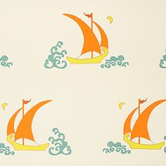 Products | Katie Ridder Bettlecat sailboat wallpaper