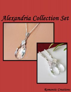 Alexandria Wedding Jewelry Set Bridesmaids by RomanticCreation, $58.00