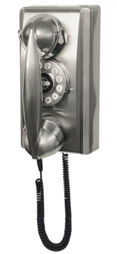 Crosley retro kitchen wall phone - digging the chrome but the other colors are great too.