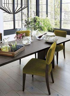 Lime Green Gepolsterte Stühle Für Die Schaffung Eines Spering Gefühl